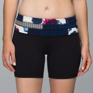 Lululemon Reverse Groove Black Biker Shorts